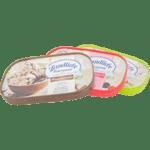 Rectangular ice cream lid