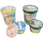 Round ice cream lids